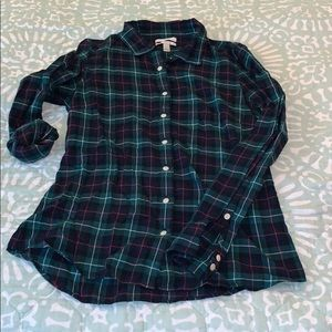 Buttoned down light flannel